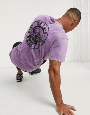 Фиолетовая футболка с принтом Guns n Roses -Фиолетовый Bershka