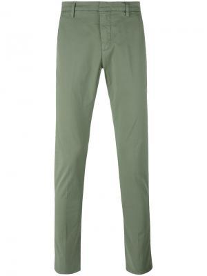 Классические брюки-чинос Dondup. Цвет: зеленый