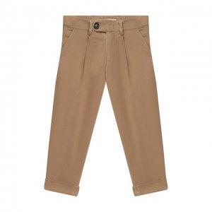 Хлопковые брюки Brunello Cucinelli. Цвет: бежевый
