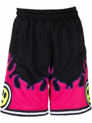 Баскетбольные шорты с принтом BARROW. Цвет: черный
