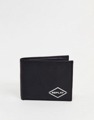 Бумажник с логотипом -Черный цвет Replay