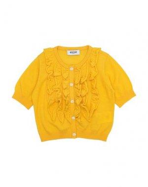 Кардиган MOSCHINO KID. Цвет: желтый