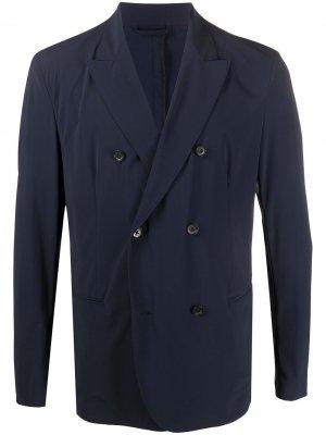 Двубортный пиджак с заостренными лацканами Hydrogen. Цвет: синий