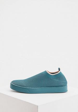 Кроссовки Max&Co. Цвет: зеленый