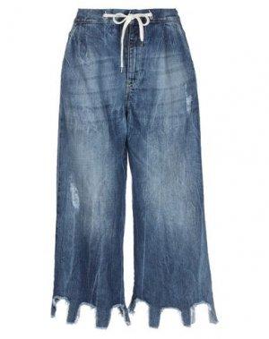 Джинсовые брюки-капри DIXIE. Цвет: синий