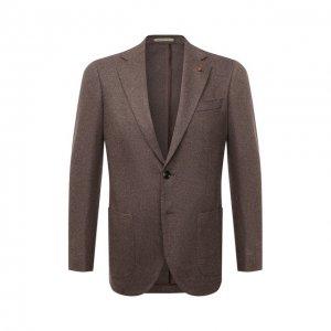 Кашемировый пиджак Sartoria Latorre. Цвет: бежевый