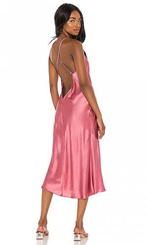Платье-комбинация holley Amanda Uprichard. Цвет: сиреневый
