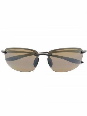 Солнцезащитные очки в оправе кошачий глаз Maui Jim. Цвет: черный