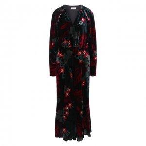 Платье из вискозы и шелка Dries Van Noten. Цвет: разноцветный