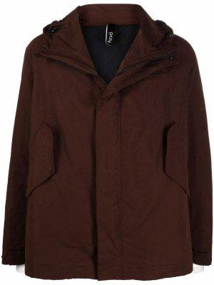 Куртка на молнии с капюшоном Hevo. Цвет: коричневый