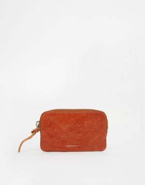 Кожаный бумажник Aims Royal RepubliQ. Цвет: рыжий