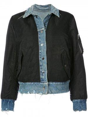 Джинсовая двухсторонняя куртка-бомбер Amiri
