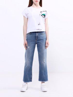 Расклешенные джинсы Pinko. Цвет: goluboy