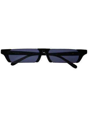 Солнцезащитные очки с прямоугольными линзами Linda Farrow. Цвет: черный
