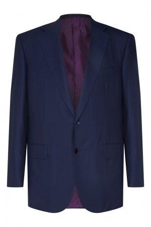 Серый шерстяной костюм Stefano Ricci. Цвет: синий