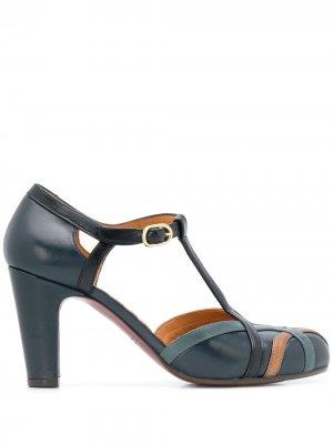 Туфли Korea с Т-образным ремешком Chie Mihara. Цвет: синий