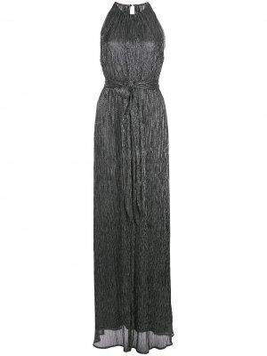 Платье макси с вырезом халтер Halston Heritage. Цвет: черный