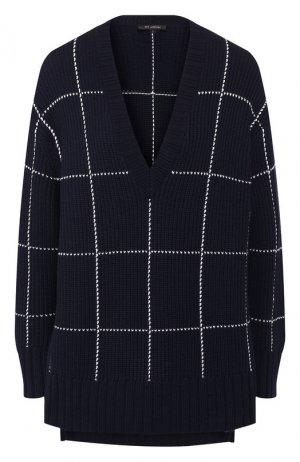 Шерстяной пуловер St. John. Цвет: темно-синий
