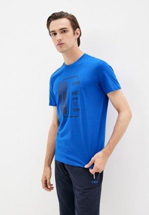 Футболка CMP. Цвет: синий
