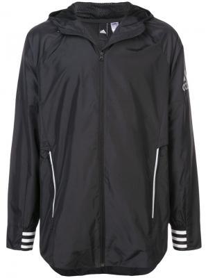 Куртка ID adidas. Цвет: черный
