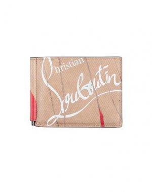Бумажник CHRISTIAN LOUBOUTIN. Цвет: бежевый