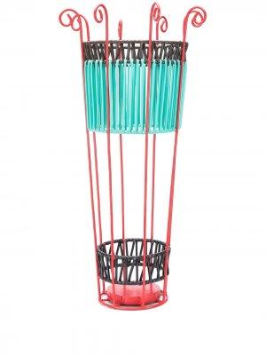 Плетеная подставка для зонтов MARNI INTERIORS. Цвет: синий