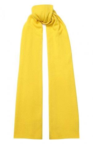 Кашемировый шарф Allude. Цвет: жёлтый