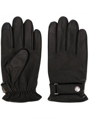 Перчатки с логотипом Polo Ralph Lauren. Цвет: чёрный