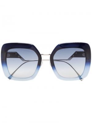 Квадратные солнцезащитные очки Fendi Eyewear. Цвет: синий