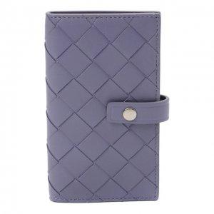 Кожаный футляр для ключей Bottega Veneta. Цвет: фиолетовый