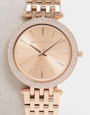 Часы цвета розового золота MK3192 Darci-Золотой Michael Kors