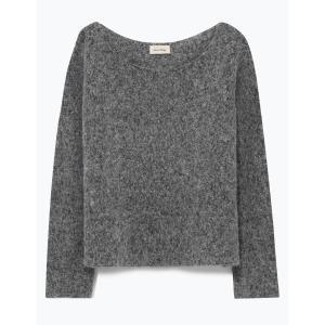 Пуловер с вырезом-лодочкой ZAPITOWN AMERICAN VINTAGE. Цвет: серый меланж