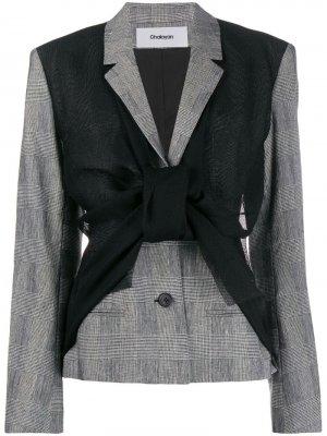 Куртка асимметричного кроя Chalayan. Цвет: черный