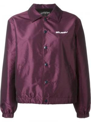 Куртка бомбер с воротником Stussy. Цвет: розовый и фиолетовый