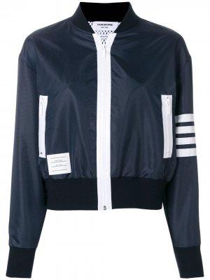 Легкая куртка-бомбер Thom Browne. Цвет: синий