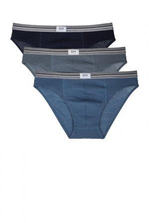 Комплект трусов Dim. Цвет: серый, синий