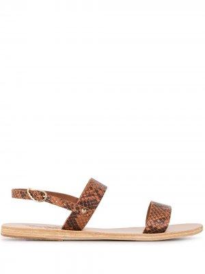 Сандалии Clio Ancient Greek Sandals. Цвет: коричневый