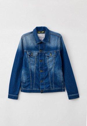 Куртка джинсовая Jacob Cohen. Цвет: синий