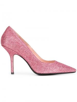 Glitter stiletto pumps Anna F.. Цвет: розовый