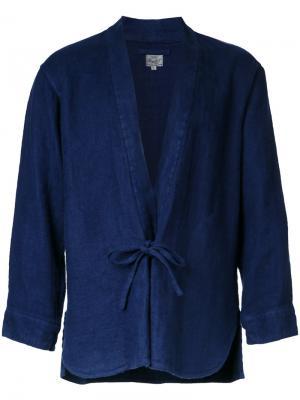 Рубашка-кимоно Herringbone Gold / Toyo Enterprise. Цвет: синий