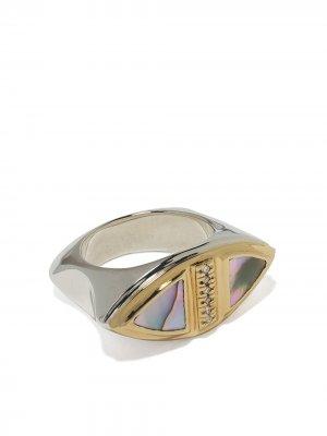 Кольцо из желтого золота с бриллиантами Duffy Jewellery. Цвет: золотистый