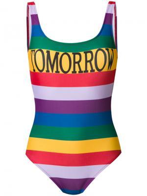 Слитный купальник с принтом Tomorrow Alberta Ferretti. Цвет: разноцветный