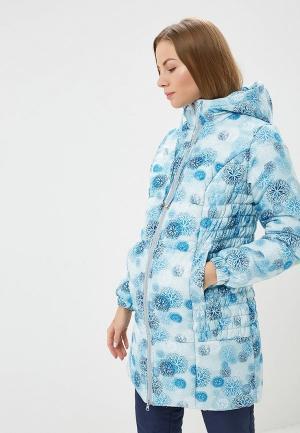 Куртка утепленная Очаровательная Адель. Цвет: голубой