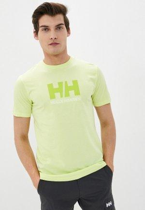 Футболка Helly Hansen HH LOGO T-SHIRT. Цвет: зеленый
