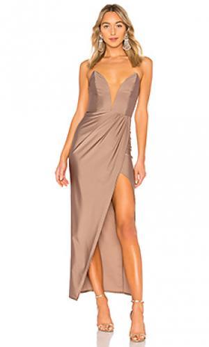 Вечернее платье jake Michael Costello. Цвет: серо-коричневый