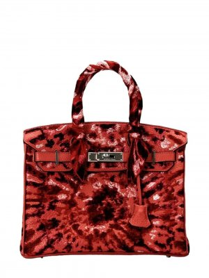 Pristine, Birkin 30cm, Tie Dye, Rouge De Coeur, Leather Togo, PHW - Final Sale Jay Ahr. Цвет: red