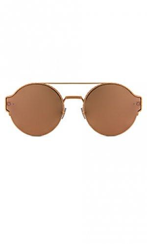 Солнцезащитные очки Bottega Veneta. Цвет: металлический золотой