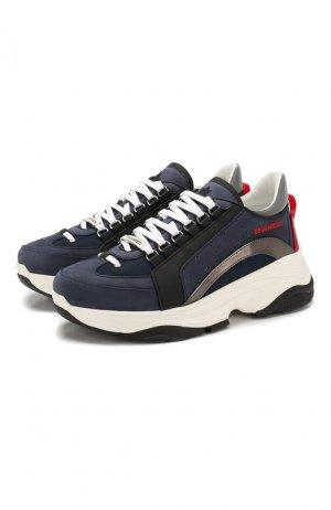 Комбинированные кроссовки Bumpy 551 Dsquared2. Цвет: синий