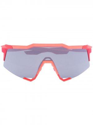 Спортивные солнцезащитные очки 100% Speedcraft Eyewear. Цвет: черный