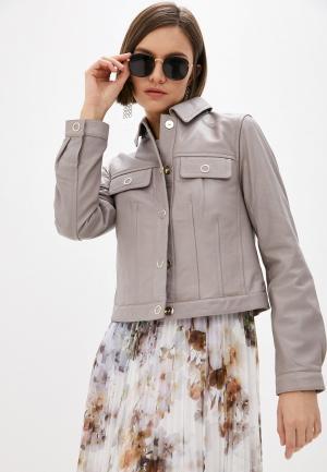 Куртка кожаная Ted Baker London. Цвет: серый